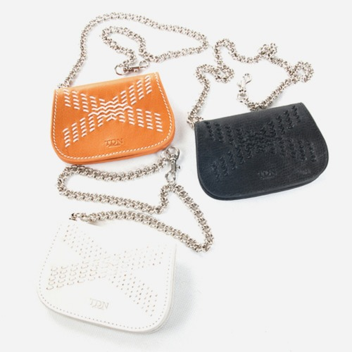 KENNETH HandStitch chain Coin Case